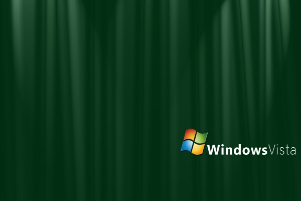 Windows Vista en fondo verde