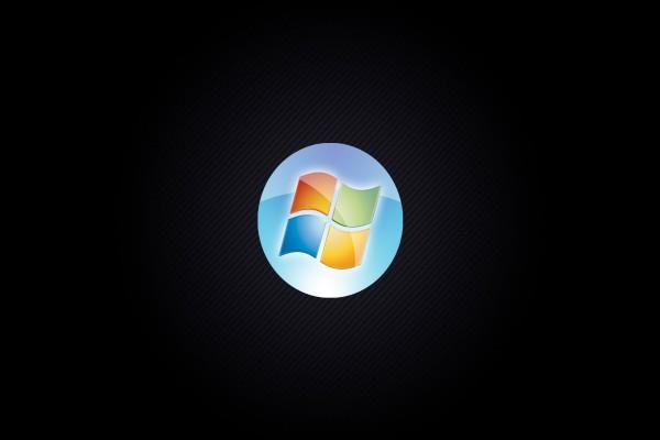 Windows de colores en fondo negro