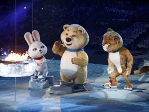 La ceremonia de clausura de los XXII Juegos Olímpicos de Invierno
