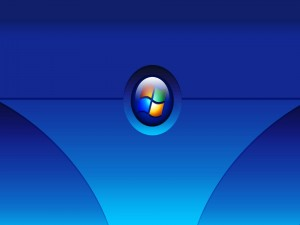 Postal: Fondo azul de windows