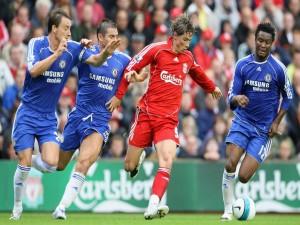 Fernando Torres y tres jugadores del Chelsea