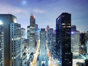 Las luces en los edificios