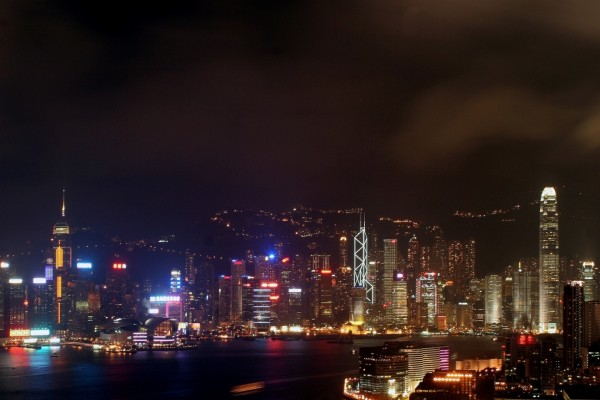 La noche en Hong Kong