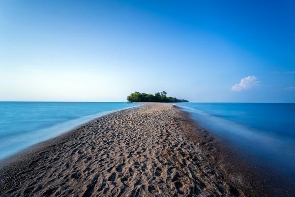 Camino hacia la isla