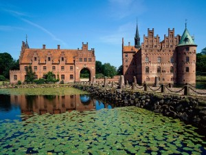 Postal: Nenúfares en el castillo