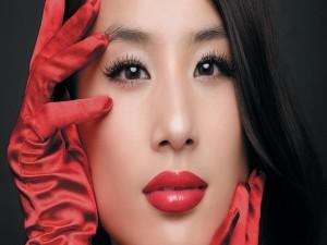 Postal: La guapa Eva Huang (Huang Shengyi)