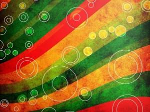 Postal: Cintas y anillos de varios colores