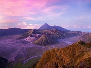 Vista del Parque Nacional de Bromo Tengger Semeru (Java, Indonesia)
