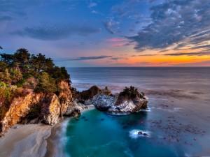 Postal: Preciosas vistas desde la costa