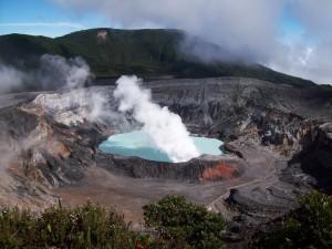 Cráter del volcán Poás (Costa Rica)