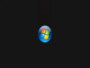 Postal: Logo de Windows en fondo oscuro