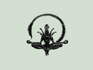 Alien meditando