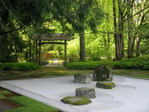 Postal: Jardín zen en Japón