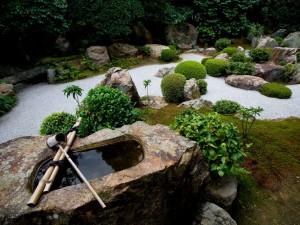 Postal: Un jardín zen