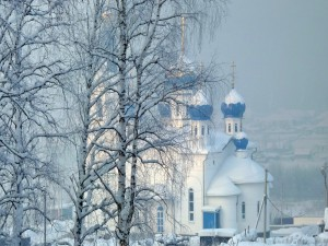 Iglesia en invierno