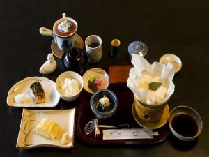 Postal: Desayuno japonés