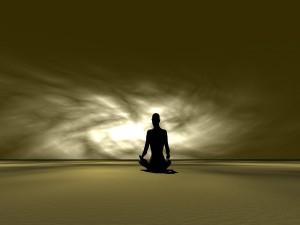 Postal: Meditando en soledad