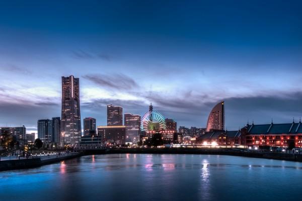 Anochecer en Minato Mirai 21 (Yokohama, Japón)