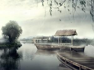 Lluvia en el embarcadero