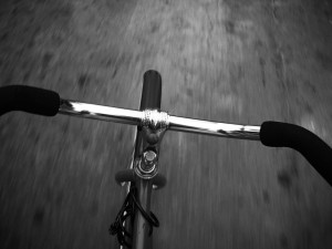 Sobre la bici