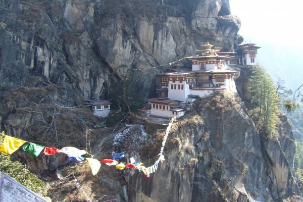 Vista del monasterio Taktshang (Bután)