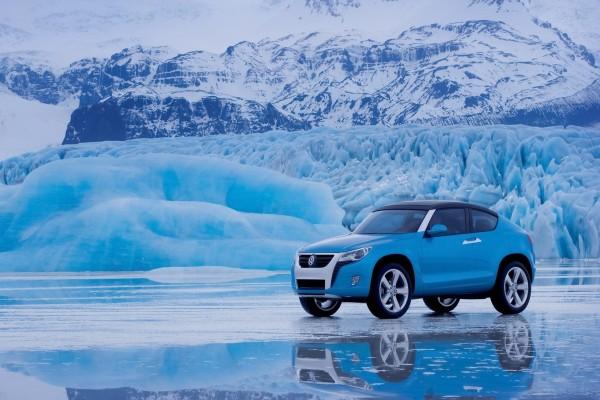 Volkswagen en el hielo