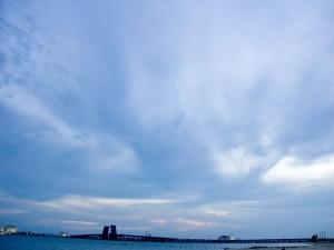 Cielo con nubes al amanecer