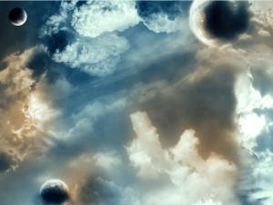 Un mundo de planetas entre nubes