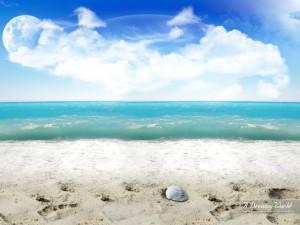 Postal: Una playa de ensueño
