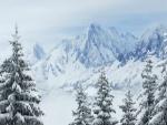 Admirando el paisaje nevado