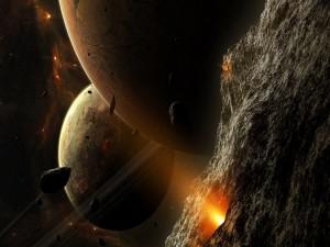 Postal: Luz en los planetas