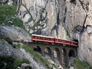 El tren de las montañas suizas