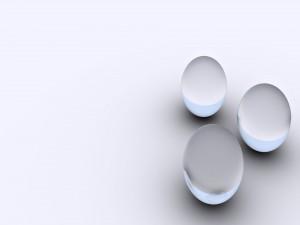 Tres esferas agrupadas