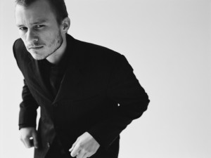 Heath Ledger en blanco y negro