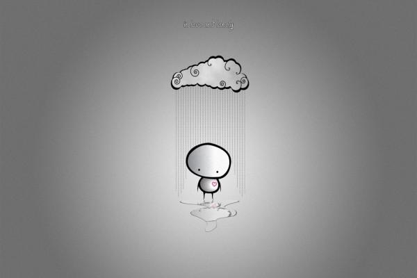 """Bajo la lluvia """"en el amor y la soledad"""""""