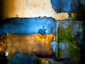 Apple en la pared
