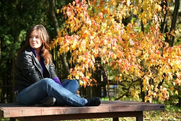 Disfrutando de un día de otoño