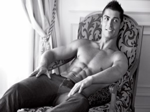 Cristiano Ronaldo posando