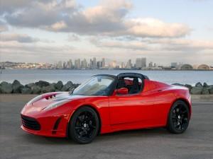 Postal: Tesla Roadster, coche eléctrico