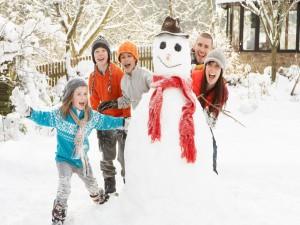 Postal: Diversión en la nieve