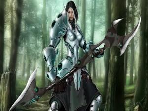 Postal: Elfo guerrero