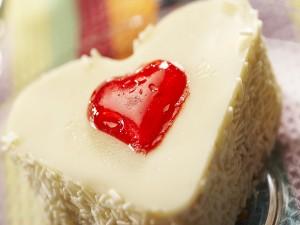 Corazón de chocolate blanco