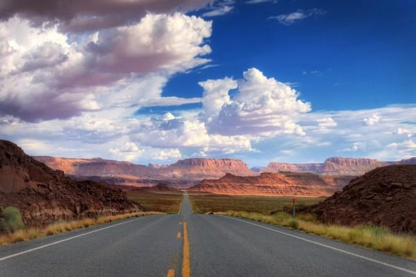 Carretera hacia el cañón