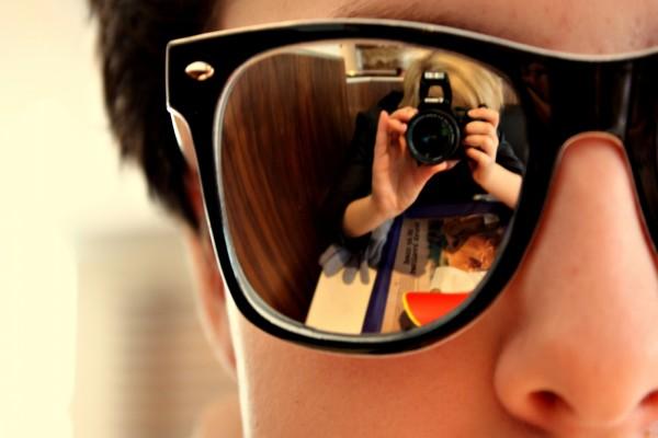 Reflejo de la fotógrafa