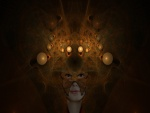Máscara en el rostro de una mujer