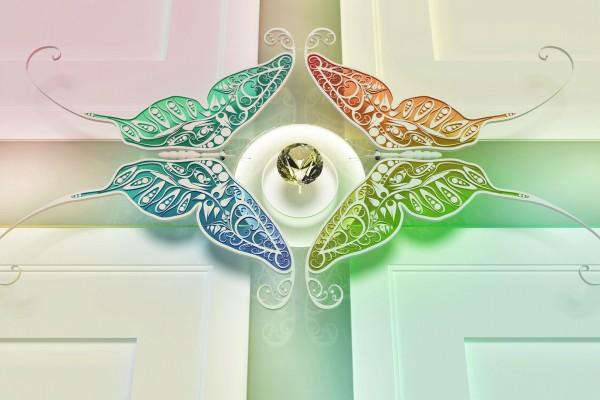 Mariposas protegiendo el diamante