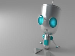 Postal: Robot sentado