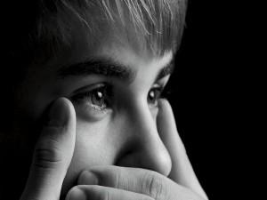 Los ojos del cantante Justin Bieber