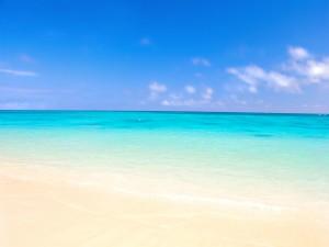 Postal: Los colores del mar, visto desde la orilla