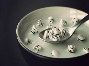 Desayunando soldados clone